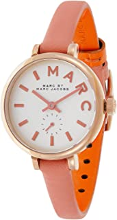 Marc by Marc Jacobs Women's White Dial Leather Band Watch - MBM1355