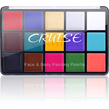 Charmcode Face Body Paint Oil, Professional 15 Colors FX Makeup Palette- Non Toxic Hypoallergenic Safe Facepaints for Adults and Kids - Ideal for Halloween, Cosplay Costumes, Parties and Festivals