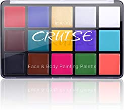 Charmcode Face Body Paint Oil, Professional 15 Colors FX Makeup Palette- Non Toxic Hypoallergenic Safe Facepaints for Adul...