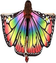 Donna Scialle Carnevale 168*135CM Donne Elegante Carnevale Ali di Farfalla Scialle Capo Sciarpa Fata Poncho Scialle Avvolgere Accessorio di Costume Maschera VICGREY ❤ Farfalla Ali Scialle Sciarpe