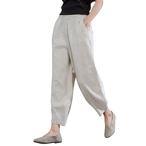 perfect quality get new search for original Women's Linen Pants: Amazon.com
