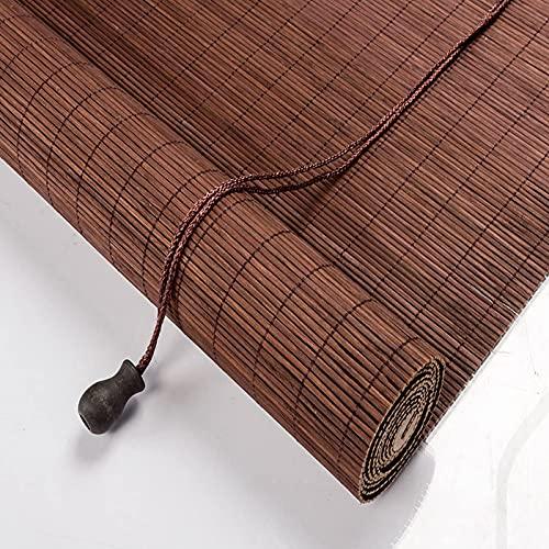 XiYou Persiana Enrollable Granate para el hogar, persiana Enrollable de bambú, 55% de Sombra, persiana para Ventana, con Sistema de elevación, para partición de salón/salón de té (60x220cm / 24x87in)