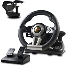 Racing Wheel, PXN-V3II 180° Game Racing Steering Wheel with Pedal and Shift Paddle, Compatible for PC, PS3, PS4, Xbox One,...