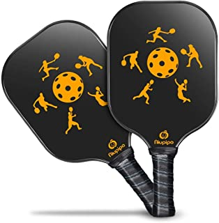 Niupipo Pickleball Paddle, Lightweight Pickleball Paddles Set 7.6oz Graphite Pickleball Rackets Honeycomb Core, Pickleball Racquets Ultra Cushion 4.5In Grip, Outdoor Indoor Pickleball Paddle set of 2