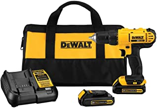 Dewalt DCD771C2R 20V MAX Cordless Lithium-Ion 1/2 in. Compact Drill Driver Kit (Renewed)