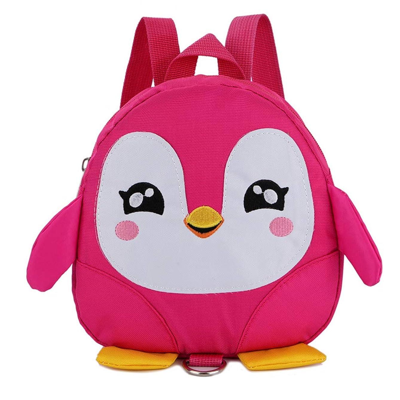 Backpacks&Lovely Cartoon Penguin Kids Children Anti Lost Backpack Kindergarten Book Bag &for Daily School Gift