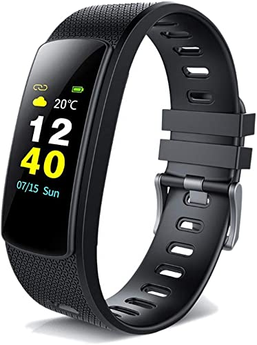 HHRONGZHZLL Bracelet Intelligent avec écran Couleur pour Moniteur de fréquence Cardiaque, Compteur de Calories, Bracelet étanche, Compatible avec Android et iOS