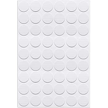 uxcell Self-Adhesive Screw Hole Stickers,3-Table Self-Adhesive Screw Covers Caps Dustproof Sticker 21mm 54 in 1 White Lines