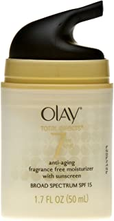 Face Moisturizer by Olay Total Effects Anti-Aging Face Moisturizer with SPF 15, Fragrance-Free 1.7 fl oz