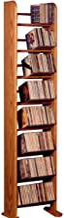 The Wood Shed Solid Oak CD Rack, Dark