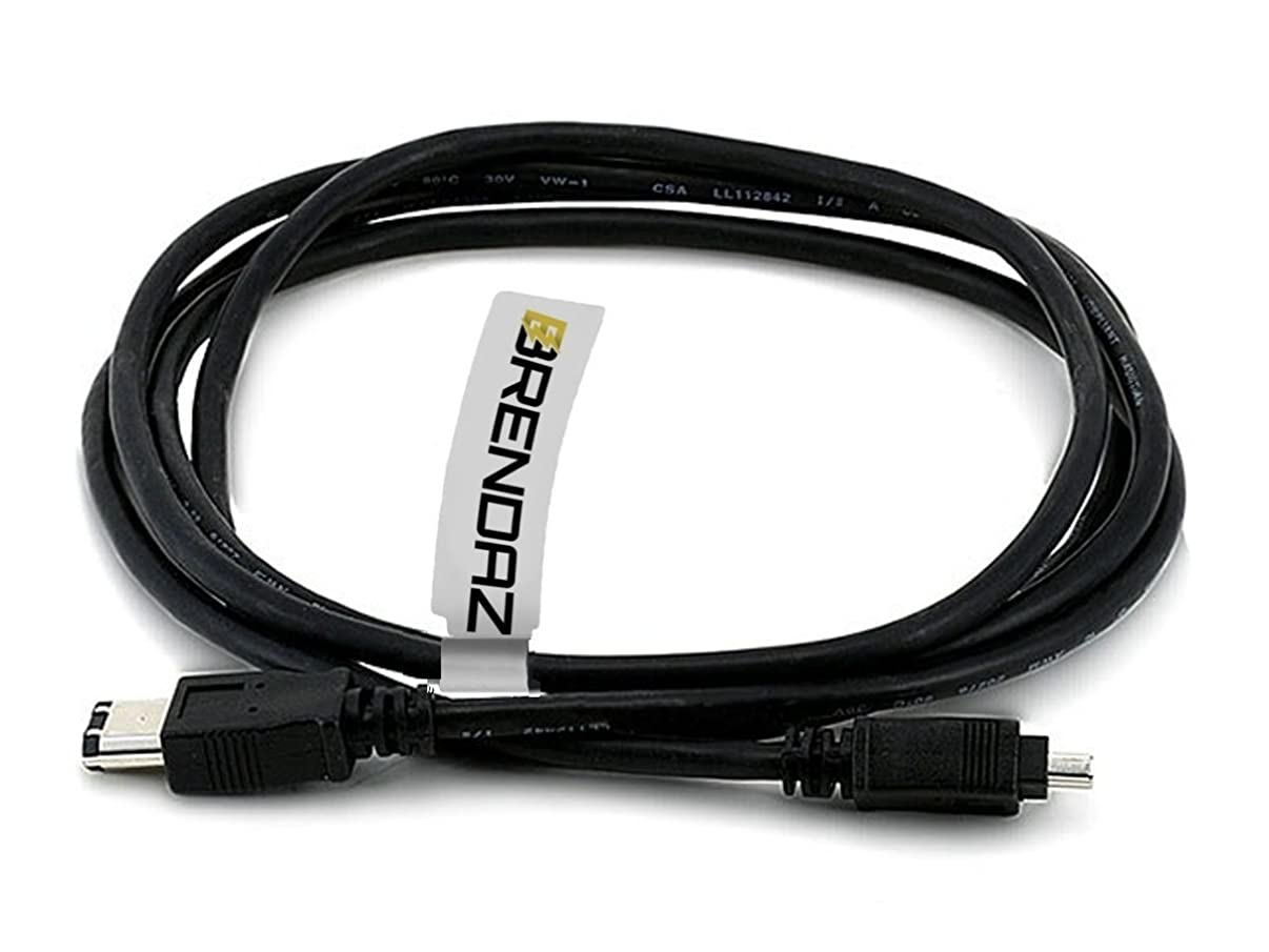 BRENDAZ Firewire DV Cable 4P-6P for Canon GL1 and GL2 Mini DV Camcorder, and Canon ZR Series Camcorders, 3-feet