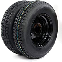 2 of Trailer Tubeless Tire & Rim ST175/80D13 5 Lug black Spoke LRC Bias (5x4.5 bolt circle) TIRES H188 17580D13 5 on 4.5