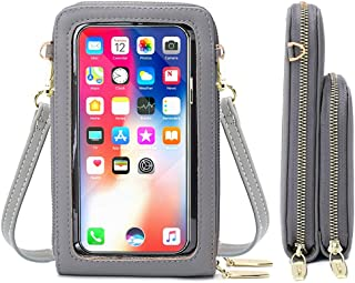 Jangostor Petit Portefeuille de Sac à Main de téléphone Portable de Sac à bandoulière avec des Fentes pour Carte de crédit...