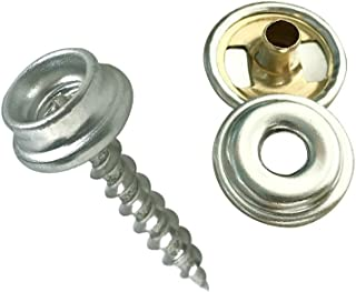 World 9.99 Mall Fastener Screw Snaps, 60 Pieces Marine Grade Boat Canvas Snaps Stainless Steel Fastener Screw Snaps for Furniture Canvas Fabric Boats