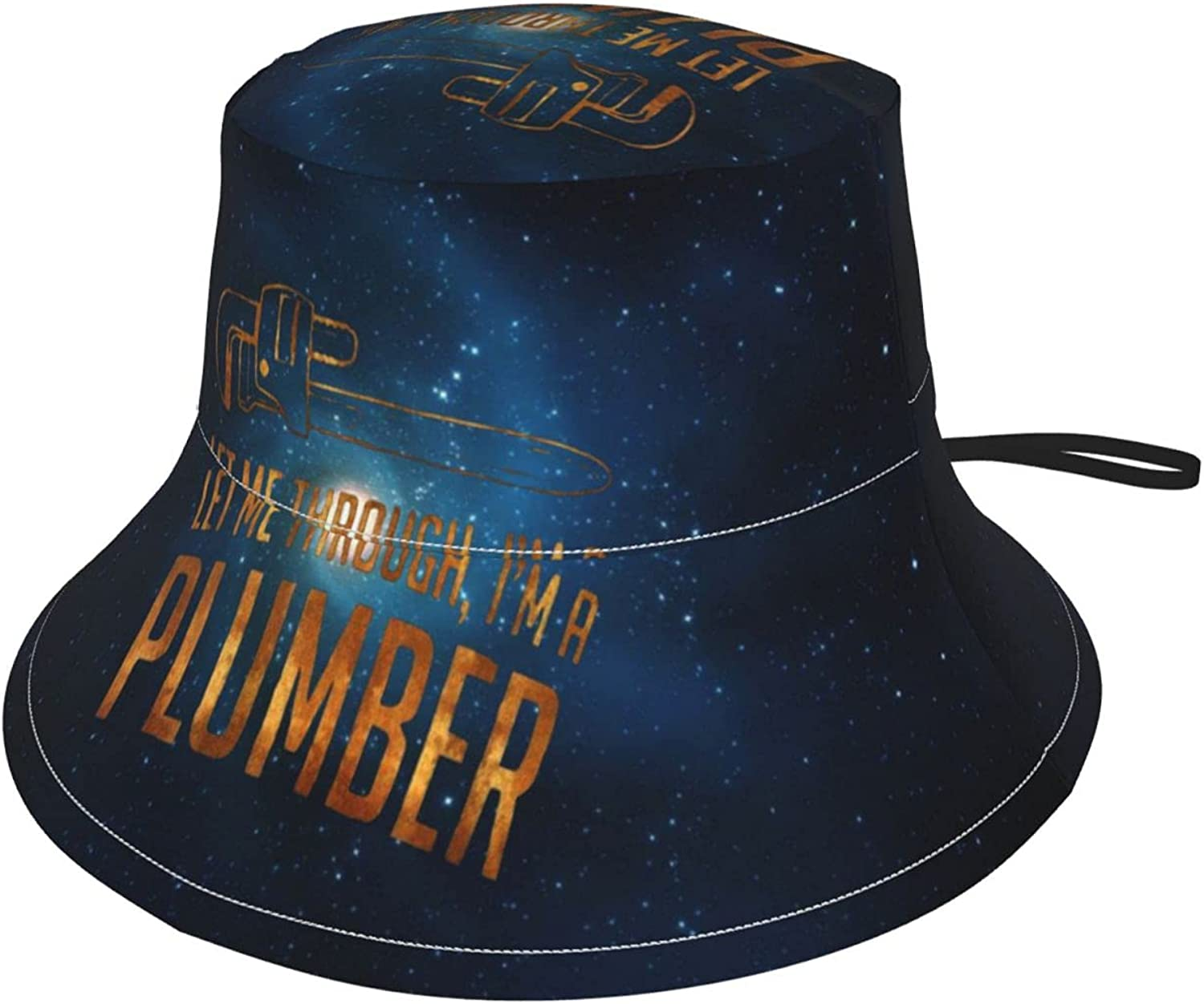 Let Me Through I'm A Plumber Kids Sun Hat Bucket Hat Upf50+ Breathable Fishmen Hat Sun Cap for Boys and Girls