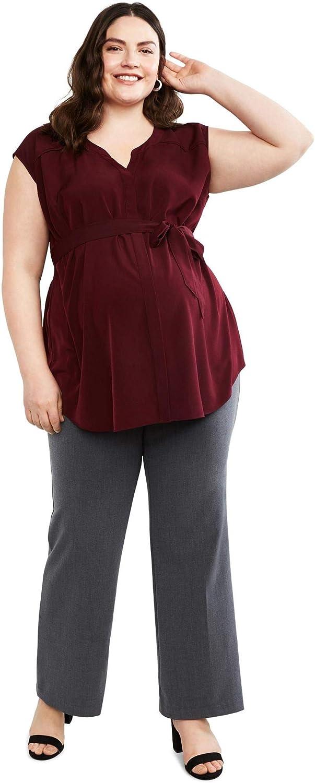 Motherhood Maternity Womens Bi-Stretch Secret Fit Belly Boot Cut Leg Pant Business Casual Pants
