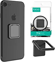 ICHECKEY Finger Ring Stand 360 Rotation Cell Phone Ring Stand Holder Grip Kickstand Universal Mobile Phone Ring for iPhone 7 7 Plus 6S 6, Samsung Galaxy S6 S7 S8 S8 Plus, Note, LG (Black)