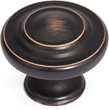 Dynasty Hardware K-1586-ORB Three Ring Cabinet Knob Oil Rubbed Bronze (15 Pack)