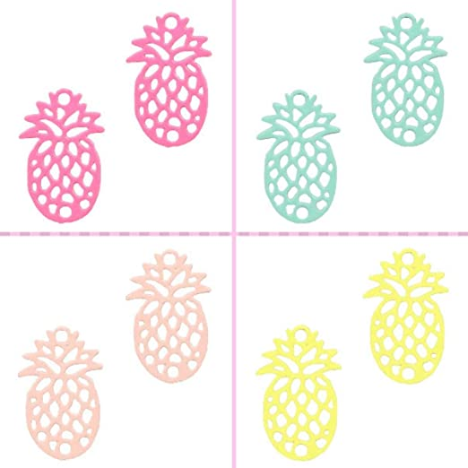 15x10 mm-Sélecteur de couleurs 2 pcs Sadingo légère Laiton Métal Pendentif Ananas