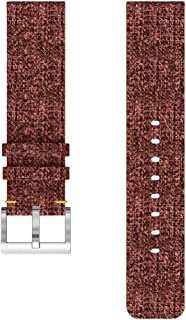 SODIAL Replacement Woven Canvas Band Strap Wristband for Versa Watch Brown