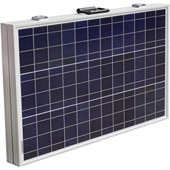 ECO-WORTHY 12 Volts 120 Watts Portable Folding Polycrystalline PV Solar Panel Foldable Solar Suitcase