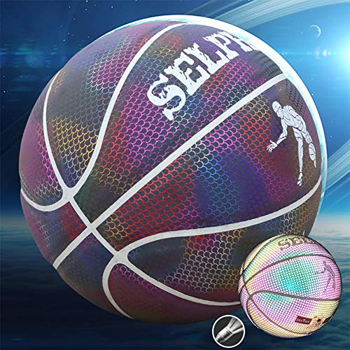 Great Deal! DUTUI Fluorescent Starry Sky Limited Edition Basketball, Standard Size 7 Basketball, Sel...