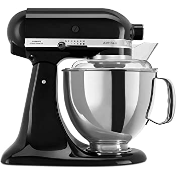 KitchenAid 4.8 Litre Artisan Stand Mixer 5KSM175PS (Onyx Black)
