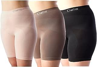 Chaffree Womens Anti Chafing Briefs, Plus Size Long Leg Panties Underwear 3PK