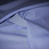 Stoff am Stück Stoff Baumwolle Vichy Karo klein blau weiß