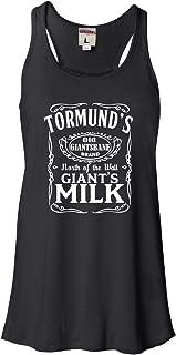 Womens Tormund's Giant's Milk Flowy Racerback Tank Top T-Shirt