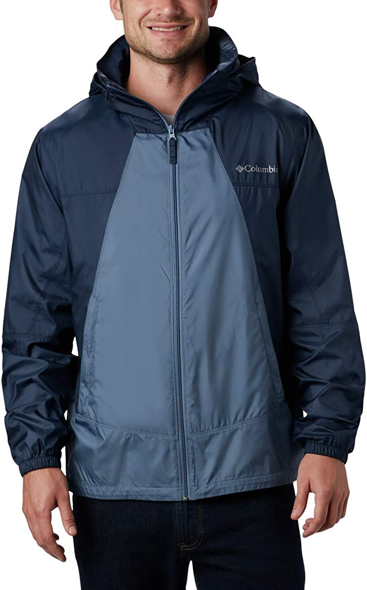 Columbia Men's Point Park Seattle Mall Ranking integrated 1st place Hooded Water Repellent Windbreaker