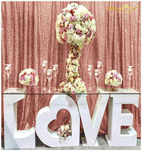 4FTx7FT Sequin backdrops,Blush Sequin Photo Booth Backdrop, Party backdrops, Wedding backdrops, Sparkling backdrops, Christmas Decoration (Blush)
