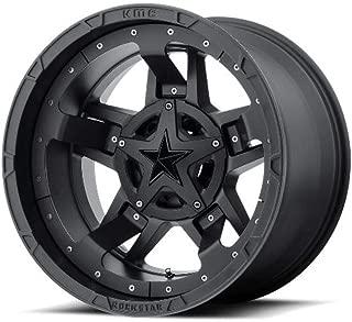 Rockstar by KMC Wheels XD827 Rockstar 3 Matte Black With Black Accents 20x9 6x120 6x139.7 -12 offset 78.3 hub