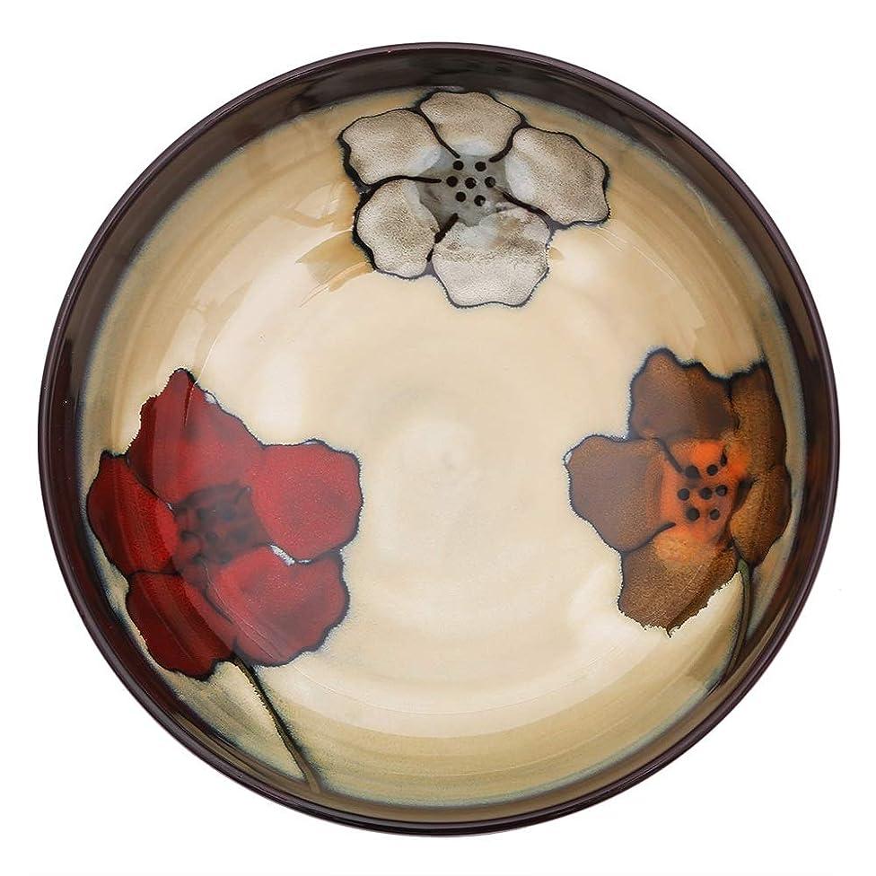 panzi Creative Hand-Painted Ceramic Soup Bowl Salad deep Bowl Pasta Bowl Creative Household Glaze Color Tableware