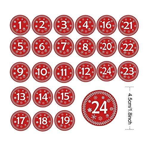 Bfrdollf 1-24 Conjunto de Adviento Calendario Bolsas Paquete de Regalo de Lino...
