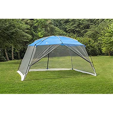 ALPHA CAMP Screen House & Room Canopy Tent with Mesh Side Walls and Carry Bag - 13'X9', Blue