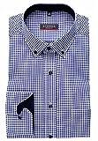 eterna Hemd Modern Fit Button-Down-Kragen Patch 4176/19 X145 (42)