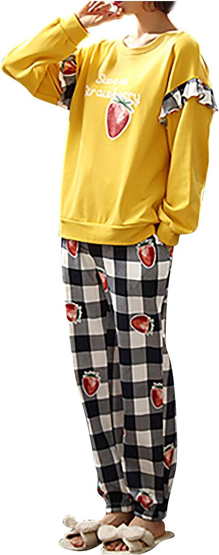 Womens Pajamas Cotton Long Sleeve Pajama New mail order Ranking TOP11 Pocket for Women Set Ho