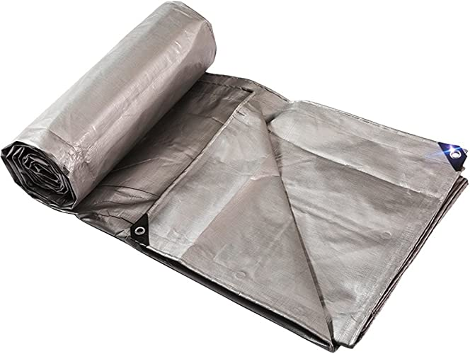 Tarpaulin HUO Bache Imperméable, Bache De Qualité Supérieure, Toile De Prougeection Résistante à La Poussière - Argent - 220 G M2 (Taille   3  5m)