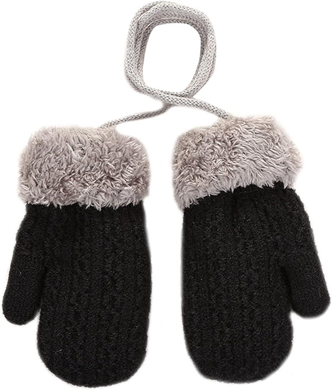 BESTORI Toddler Winter Mittens Warm Fluffy Gloves Cute Thicken Knitted Mittens Birthday Xmas Gifts for 1-4 Y Kids
