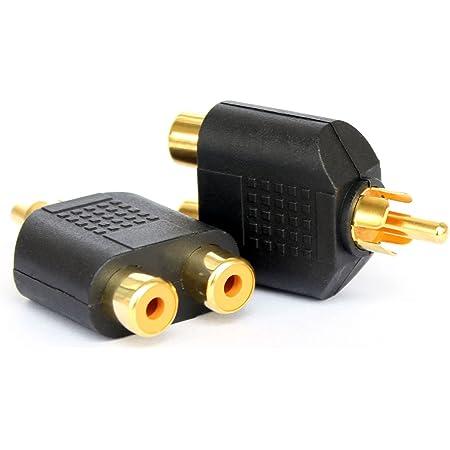 1//4 pouce RCA M un-deux adaptateur audio st/ér/éo 6,35 mm F 2Pack - RCA M-2x6.35mm F NANYI RCA m/âle /à deux t/êtes audio femelles de 6,35 mm