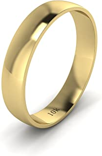 simple gold wedding band for him