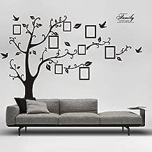 Wall Stickers,Ronamick 3D DIY Art Photo Tree Adhesive Wall Mural Home Living Room Wall Decor (Black, 90cm60cm)