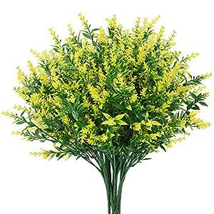GREENRAIN 8 Bundles Artificial Lavender Flowers