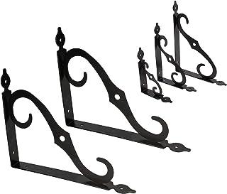 KOTARBAU plankdragers 3.maten 2 stuks staal hoekverbindingen wandconsole hoek klemmen hoekbeugel stelling ondersteuning he...