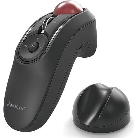 エレコム トラックボールマウス ハンディタイプ Relacon メディアコントロールボタン搭載 スタンド付 静音 Bluetooth ブラック M-RT1BRXBK