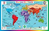 Tot Talk Explore The World Placemat, Double-sided, Made in the USA