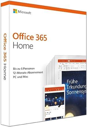 Microsoft Office 365 Home multilingual | 6 Nutzer | Mehrere PCs / Macs, Tablets und mobile Geräte | 1 Jahresabonnement | Box