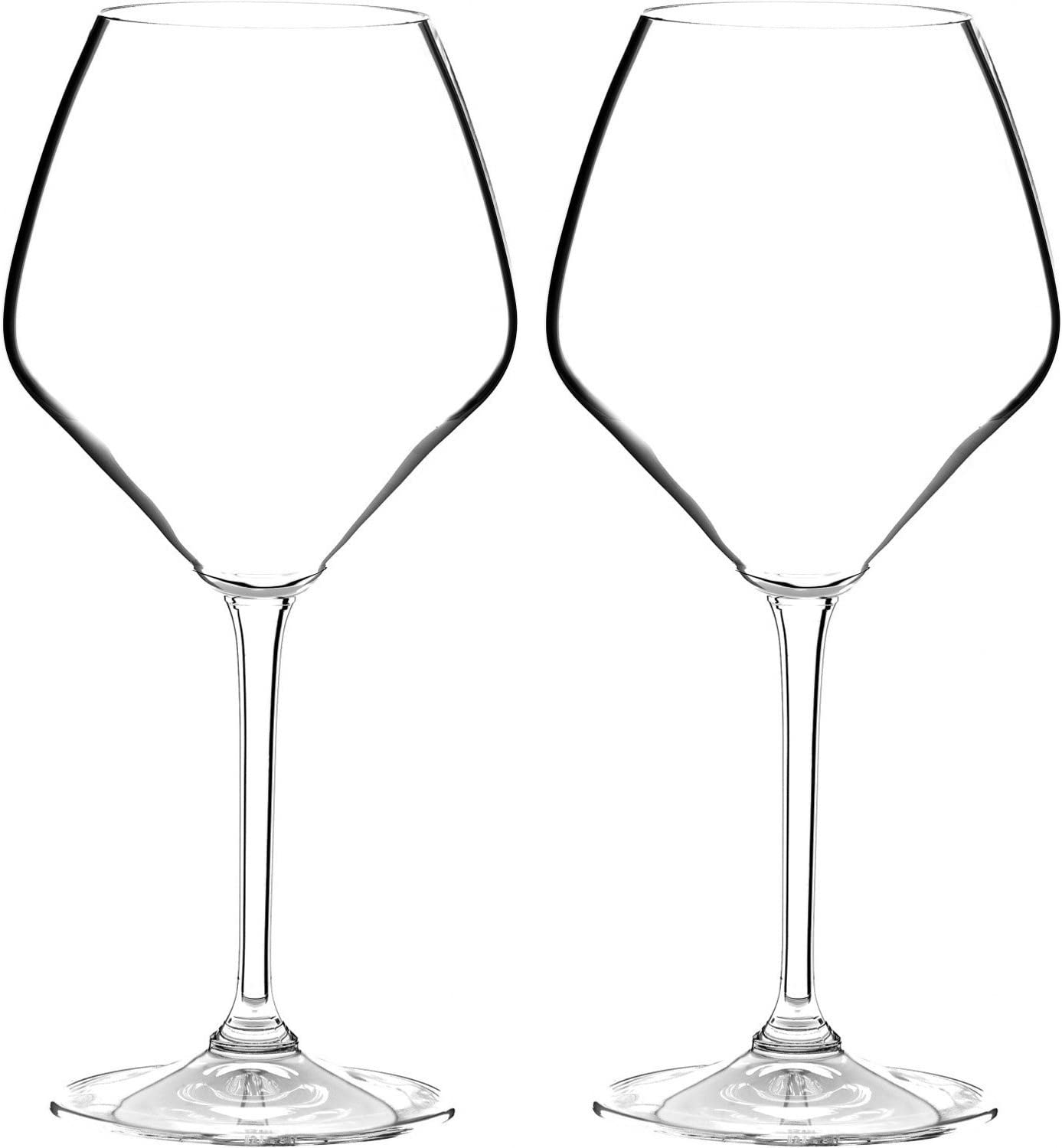 Riedel Heart To Non-leaded Pinot Wine Max 85% OFF Noir Set of Omaha Mall Glasses