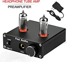 Headphone Amplifier Vacuum Tube Preamplifier Mini Hi-Fi Stereo Audio with Low Ground Noise Output Protection for Headphones Fosi Audio P2